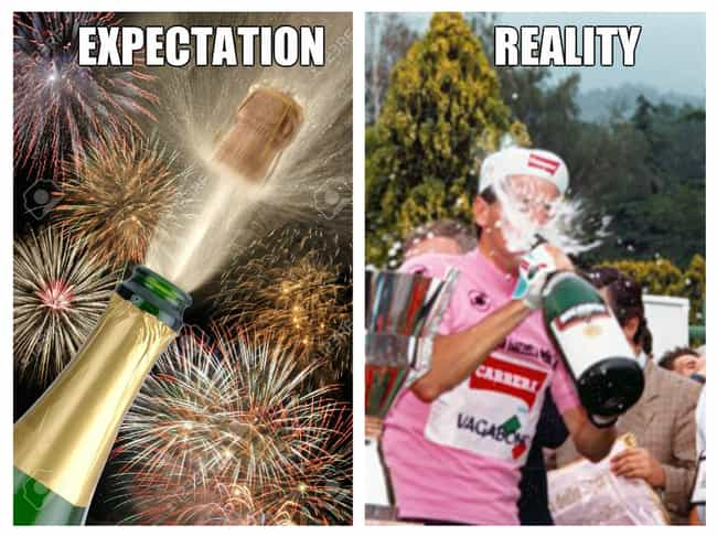 How Suave You'll Look When... is listed (or ranked) 4 on the list New Year's Eve: Expectation v. Reality