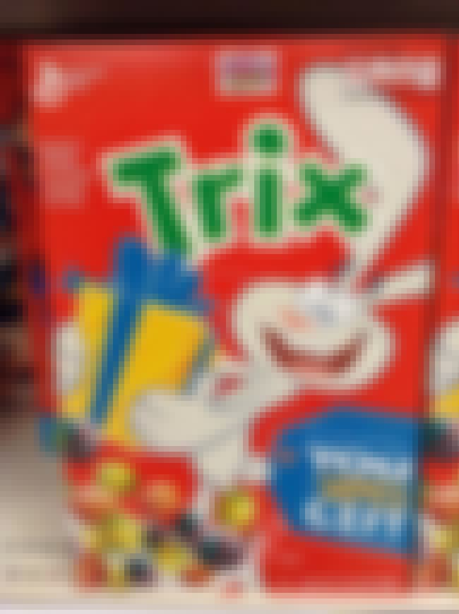 Fruit-shaped Trix is listed (or ranked) 2 on the list The Tastiest Discontinued Food/Drink Items from the 2000s