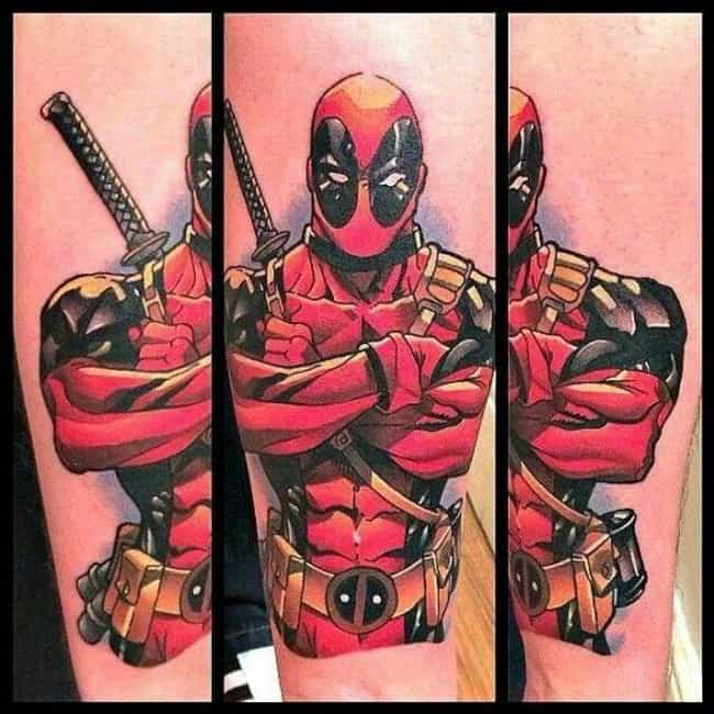 Sassy Deadpool is Sassy is listed (or ranked) 1 on the list 25 Tattoos Inspired by Deadpool