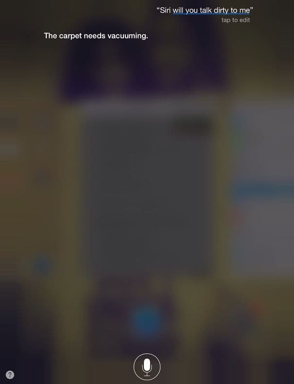 Talking Dirty Just Isn't Her Style on Random Siri Gave Hilarious Answers to Your Questions