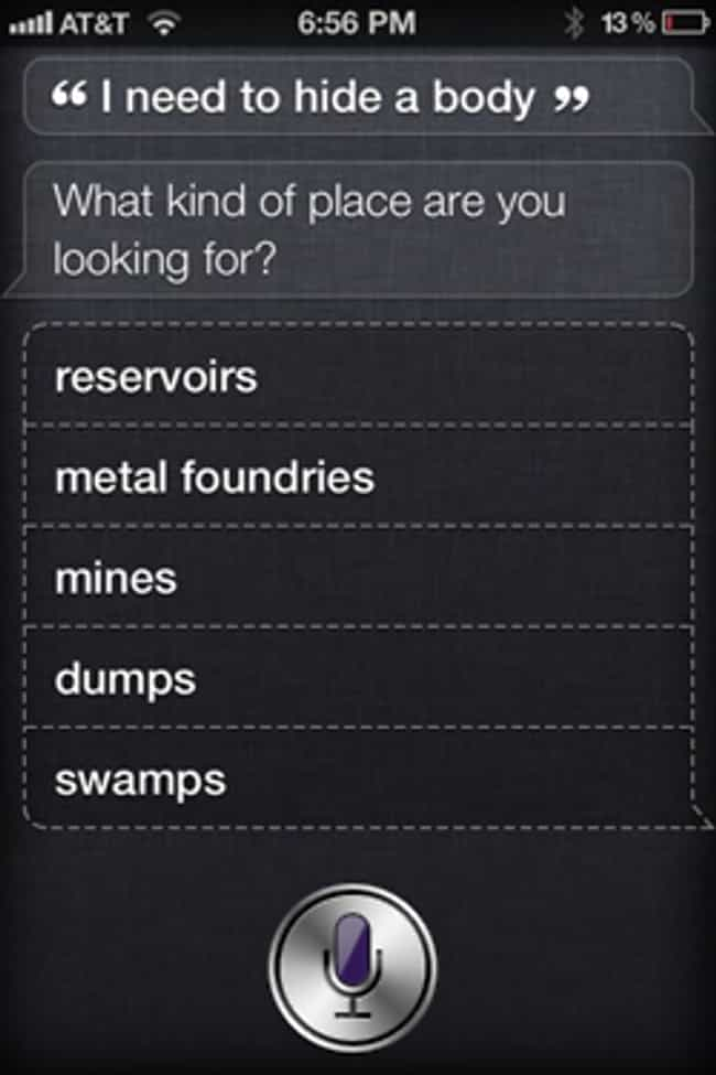 She's Always Got Your Ba... is listed (or ranked) 3 on the list 23 Times Siri Gave Hilarious Answers to Your Questions