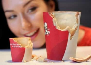 KFC's Edible Coffee Cups ( is listed (or ranked) 1 on the list Super Weird International Fast Food Items You'd Still Try