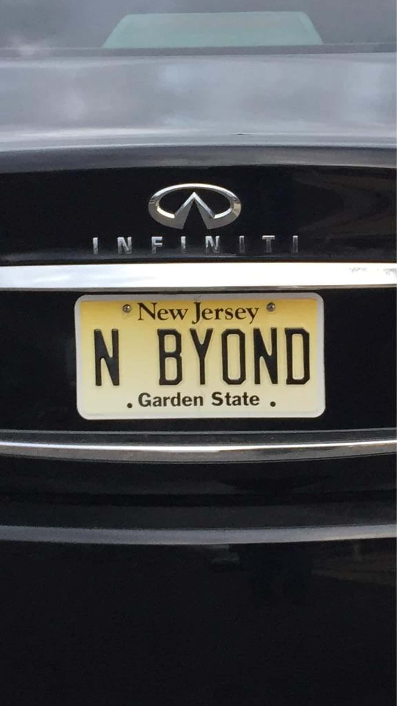 """""""To Infinity"""" Is Pract is listed (or ranked) 4 on the list 34 Hilarious Custom License Plates"""