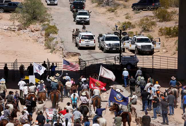 Militias Take on the Feds at B... is listed (or ranked) 2 on the list 17 Times Another American Civil War Almost Started
