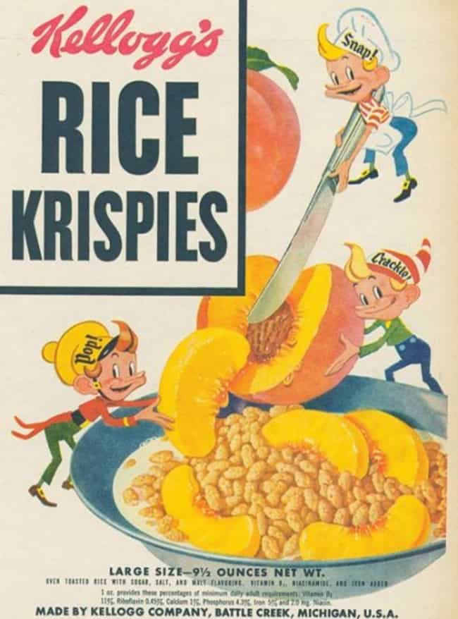 Rice Krispies is listed (or ranked) 3 on the list 31 Vintage Cereal Boxes with Awesome Box Art