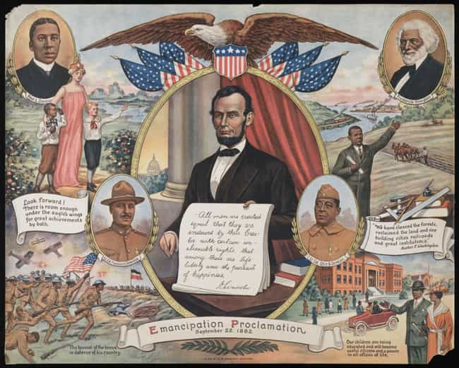 The Emancipation Proclamation is listed (or ranked) 1 on the list The Most Infamous Executive Orders in American History