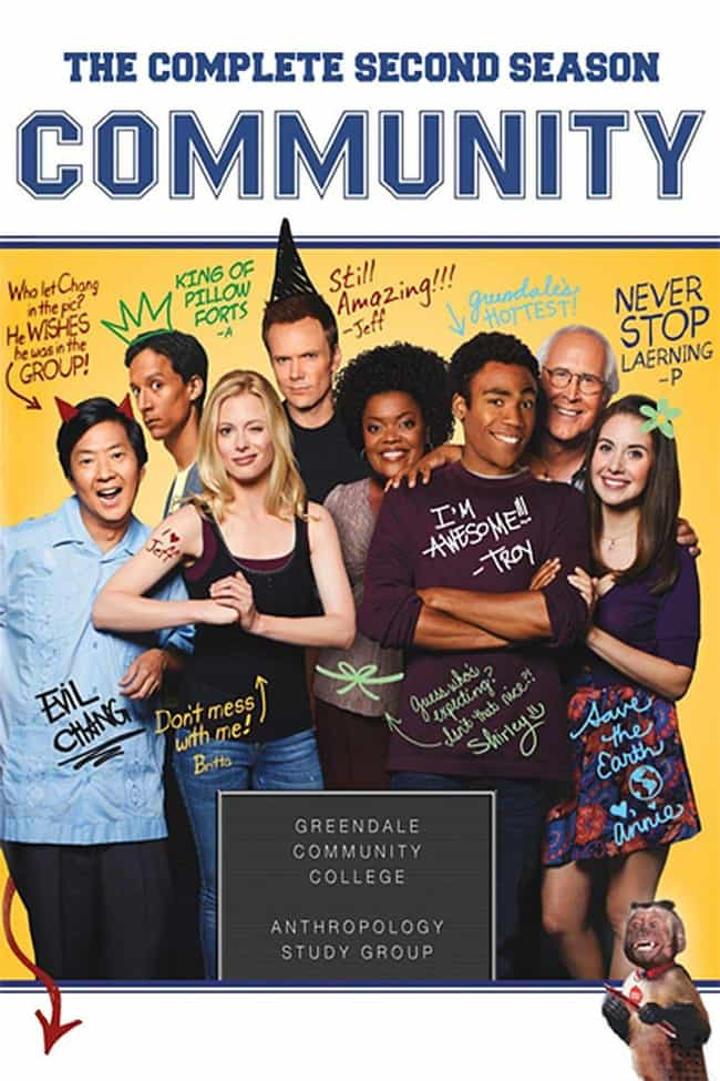 Community - Season 2 is listed (or ranked) 3 on the list The Best Seasons of 'Community'