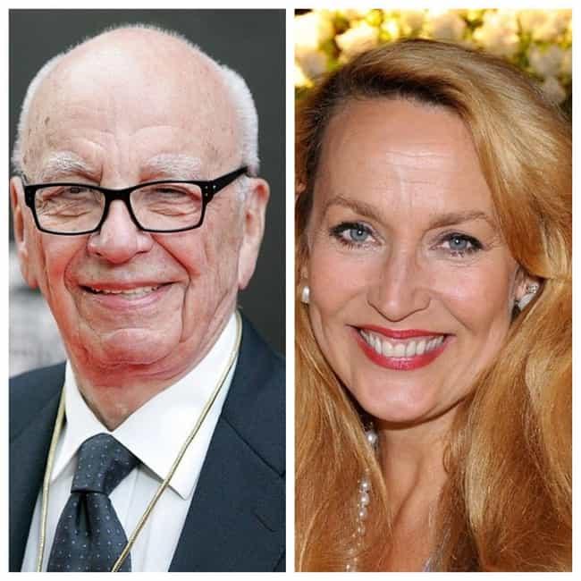 Jerry Hall And Rupert Murdoch