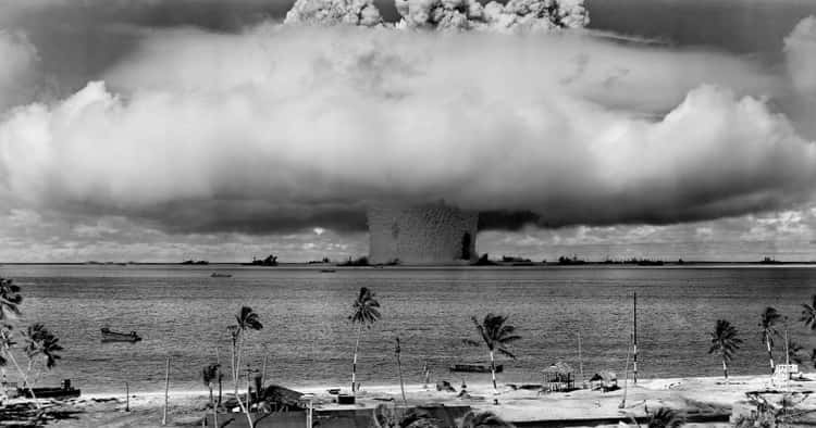 Underwater Detonation of a Nuclear Bomb