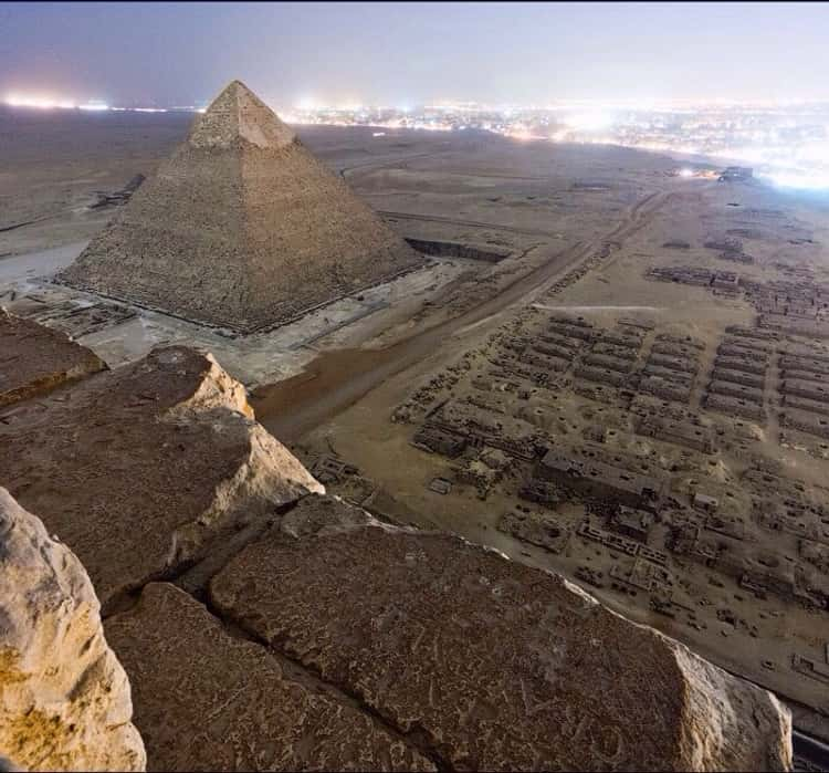 An Illegal Picture Taken Atop the Pyramids