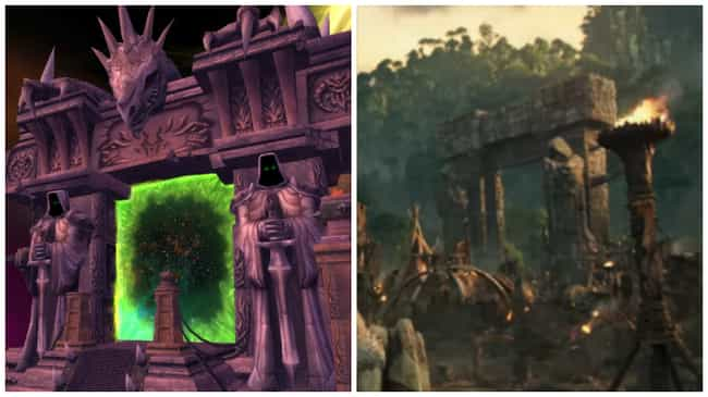The Dark Portal is listed (or ranked) 2 on the list How 21 Iconic Images of the Warcraft Game Look in the Film