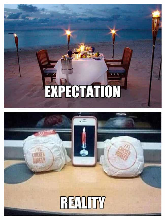 When Your Lover Treats You to ... is listed (or ranked) 1 on the list Valentine's Day: Expectation Vs. Reality
