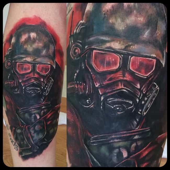 What Happens in New Vegas... is listed (or ranked) 3 on the list Tattoos Inspired by Fallout