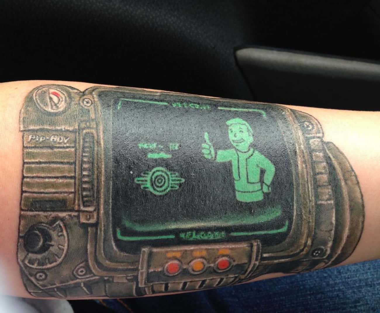 Pip-Boy, Right Where It's  is listed (or ranked) 3 on the list Tattoos Inspired by Fallout
