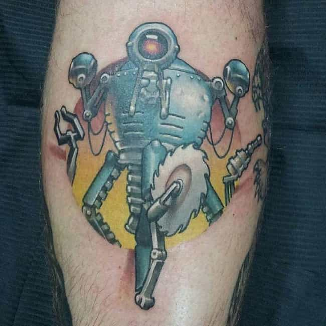 Mr. Handy Slicing Through Skin is listed (or ranked) 4 on the list Tattoos Inspired by Fallout