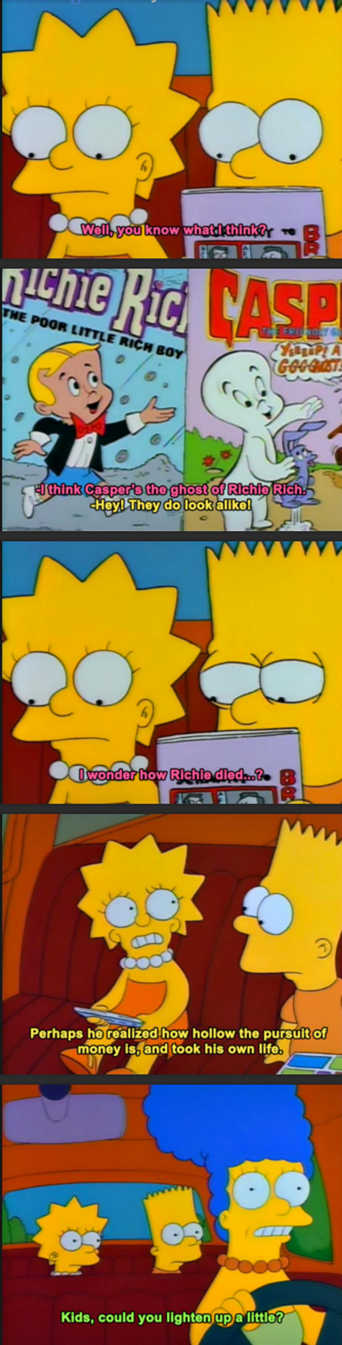 Yeah, Kids! Lighten Up! is listed (or ranked) 2 on the list 28 Times The Simpsons Got REALLY Dark
