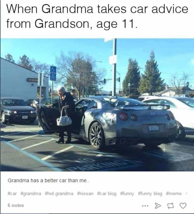 They See this Granny Rol... is listed (or ranked) 2 on the list 33 Cool Grandmas Who Are Down With It