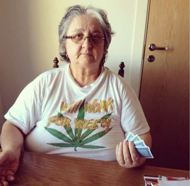 """Puff Puff Pass, De... is listed (or ranked) 1 on the list 33 Cool Grandmas Who Are Down With It"