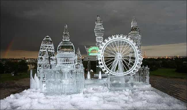 How Beautiful Is This Icy City... is listed (or ranked) 3 on the list Snowy Works of Art That Could Only Happen During Winter