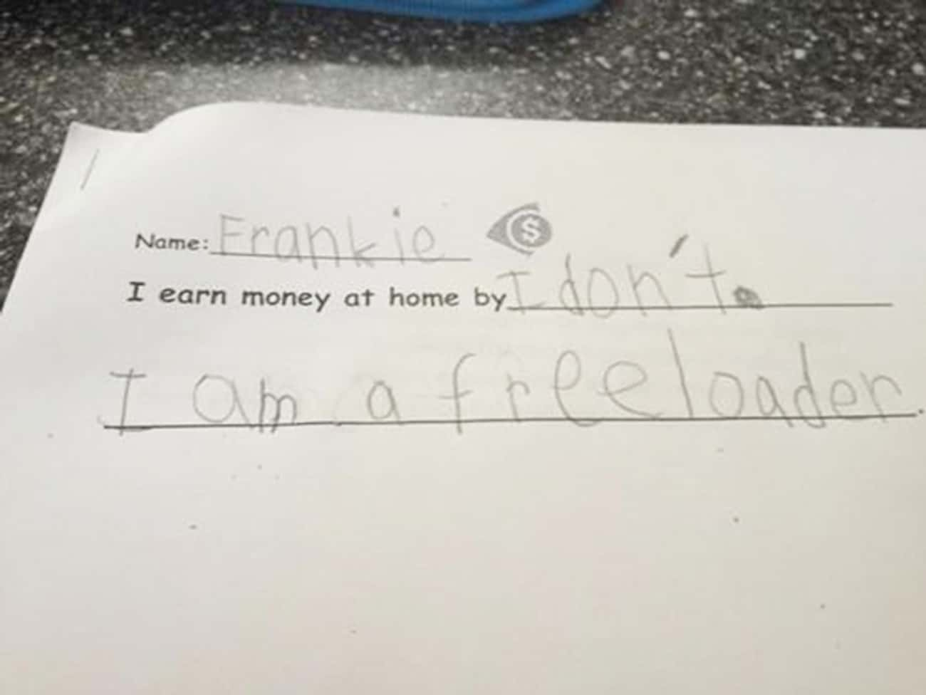 Frankie Is Going to be Voted & is listed (or ranked) 4 on the list Melodramatic Letters from Kids Who May Need a Hug