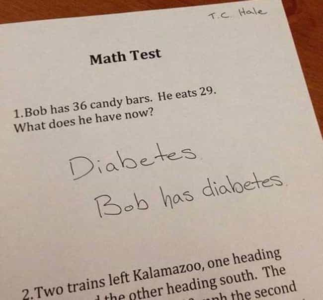 Seriously, Forget the Math and... is listed (or ranked) 1 on the list Funny Notes from Kids Who Are Wise Beyond Their Years