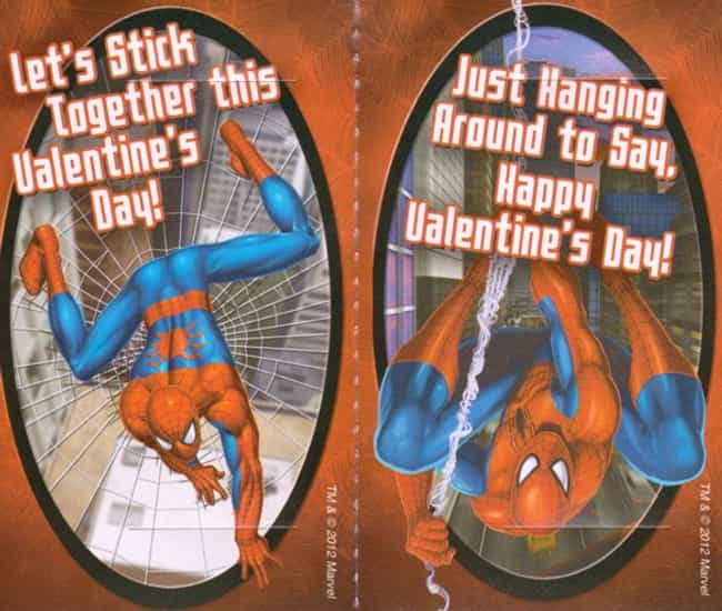 Spider-Man: Master of the Erot... is listed (or ranked) 4 on the list Misguided Superhero Valentine's Day Cards