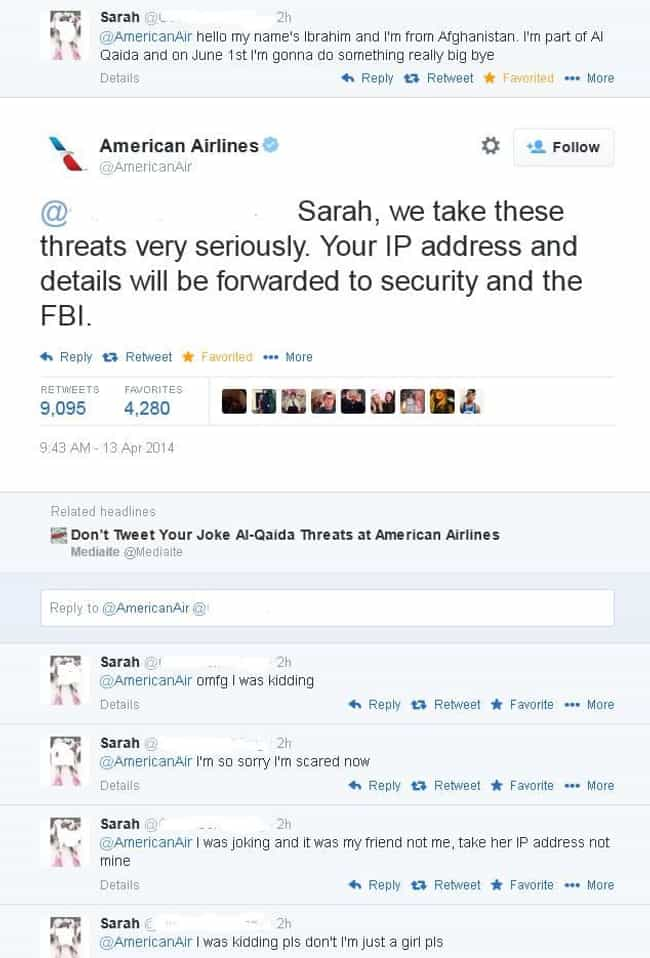 "Sarah = 0, Karma=1 Mil... is listed (or ranked) 2 on the list ""Accidental"" Selfies and Texts That Somehow Happened"