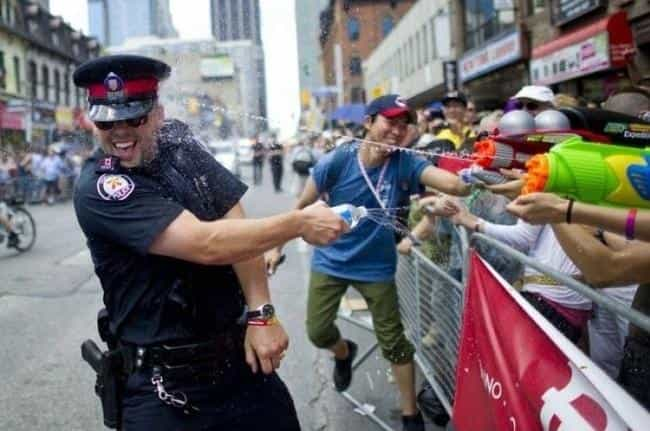 Police Tactics in Canada... is listed (or ranked) 2 on the list 33 Pictures That Prove All Canadians Are Ridiculously Nice