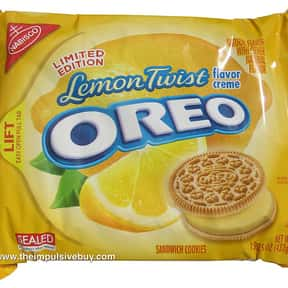 Lemon Twist Oreo is listed (or ranked) 10 on the list The Best Oreo Flavors
