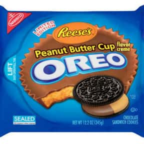 Reese's Peanut Butter Cup Oreo is listed (or ranked) 17 on the list The Best Oreo Flavors