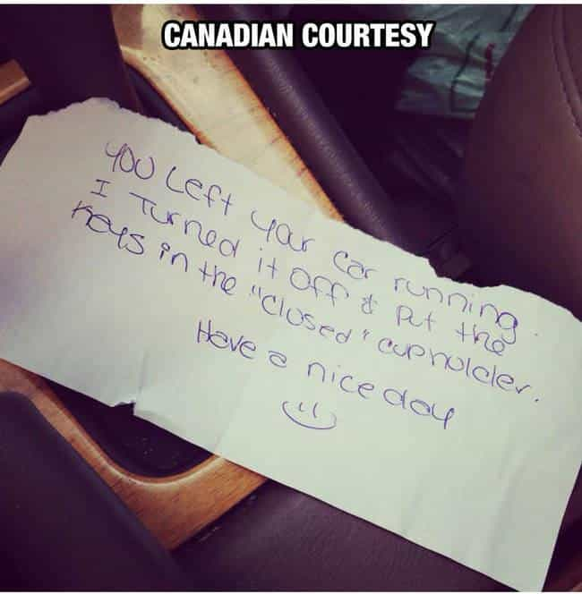 Strangers in Canada is listed (or ranked) 4 on the list 33 Pictures That Prove All Canadians Are Ridiculously Nice