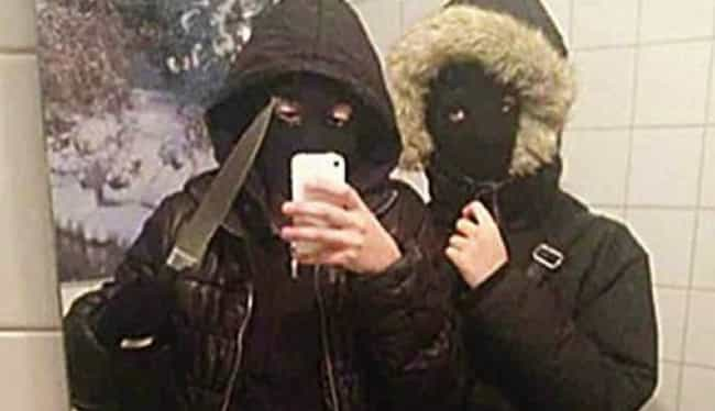 Maybe Take the Masks Off First... is listed (or ranked) 3 on the list Criminals Who Couldn't Help But Pause to Take a Selfie