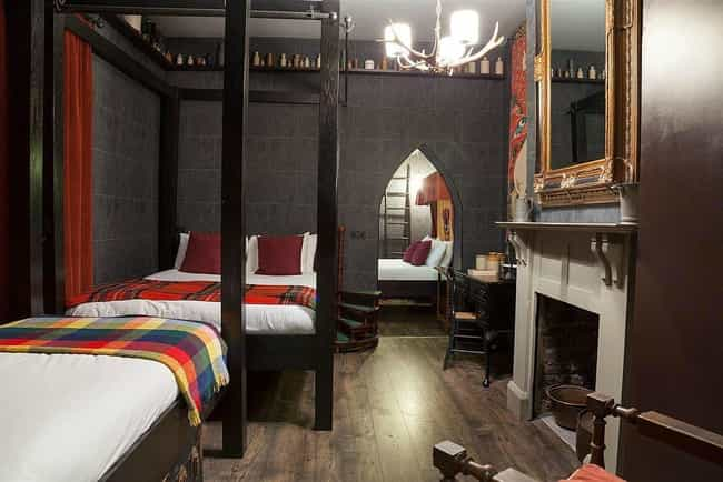 Feel Like a Student at Hogwart... is listed (or ranked) 4 on the list Themed Hotel Rooms That Movie Nerds Will Love