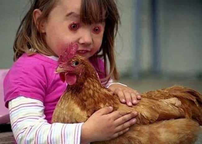 Chicken... Run!!! is listed (or ranked) 2 on the list Disturbing Face Swaps That'll Give You Nightmares Forever