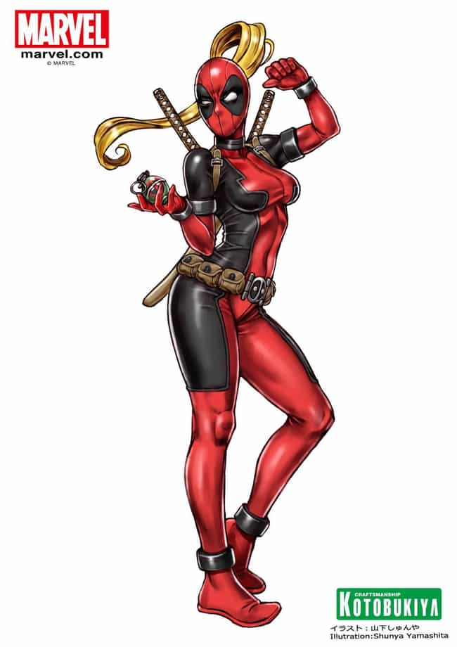 Lady Deadpool is listed (or ranked) 3 on the list The 20 Laziest Superhero Gender-Swaps in Comic Books