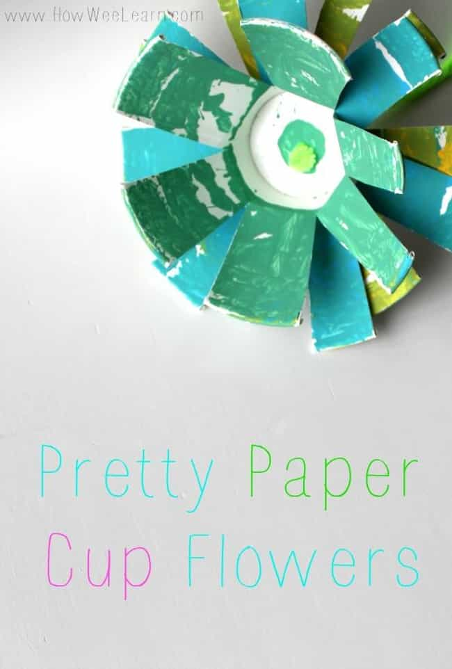 Paper Cup Flowers is listed (or ranked) 3 on the list Good Crafts for 2 Year Olds
