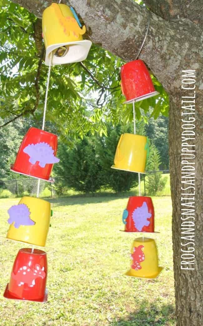 Yogurt Cup Wind Chimes is listed (or ranked) 4 on the list Good Crafts for 2 Year Olds