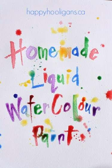 Make Liquid Watercolors with Old Markers