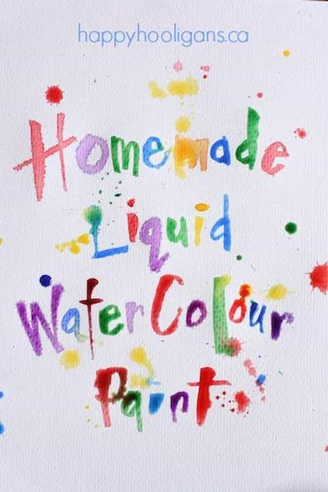 Make Liquid Watercolors with O... is listed (or ranked) 4 on the list Good Crafts for 2 Year Olds