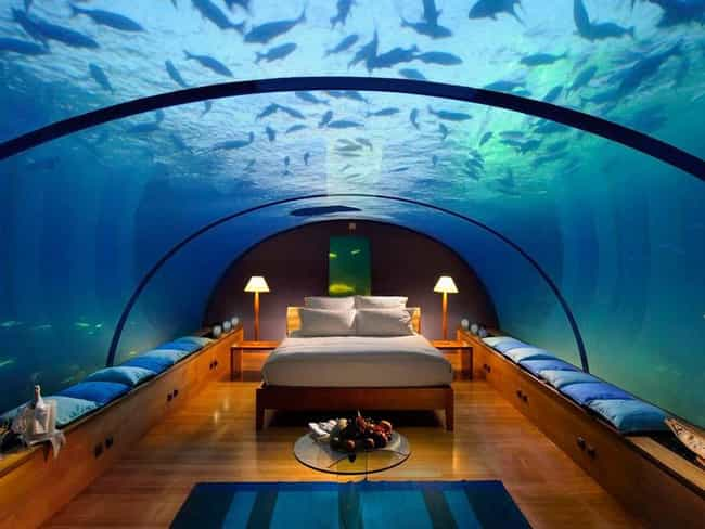 A Below the Surface Getaway is listed (or ranked) 1 on the list Themed Hotel Rooms That Movie Nerds Will Love