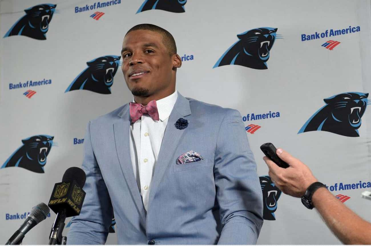 Cam's Bow Tie Game Is Stro is listed (or ranked) 3 on the list Cam Newton's Most Over the Top Fashion Choices