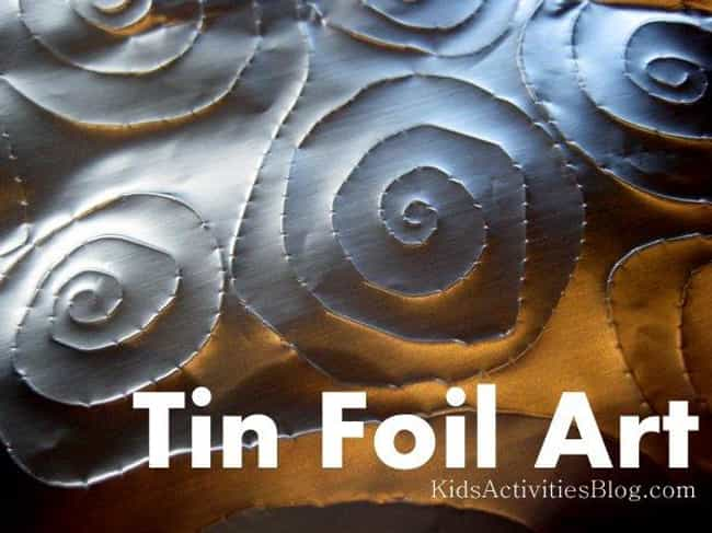 Tin Foil Art is listed (or ranked) 4 on the list Good Crafts for 3 Year Olds