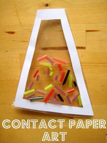 Contact Paper Art is listed (or ranked) 1 on the list Good Crafts for Five Year Olds