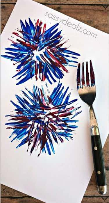 Fork Firework is listed (or ranked) 2 on the list Good Crafts for 3-Year-Olds
