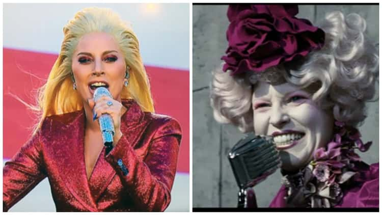 Lady Gaga Channels Effie Trinket