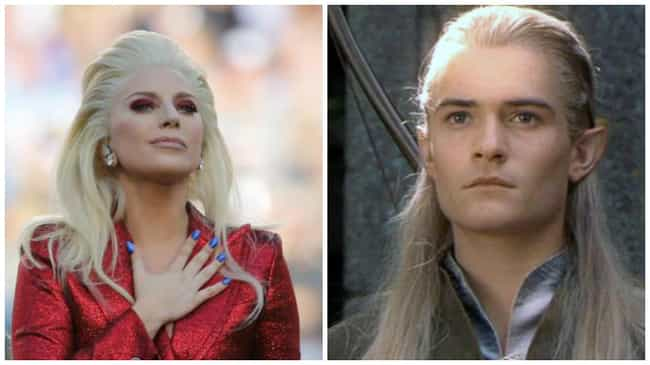 Lady Gaga Pulls Our Legolas is listed (or ranked) 4 on the list Everything That Lady Gaga Looked Like at the Super Bowl