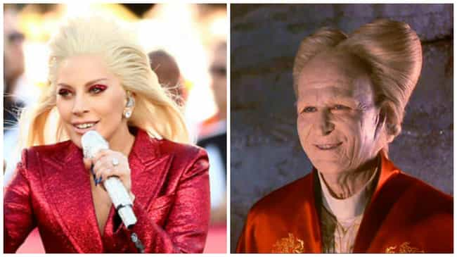 Bram Stoker's Lady Gaga's Drac... is listed (or ranked) 3 on the list Everything That Lady Gaga Looked Like at the Super Bowl