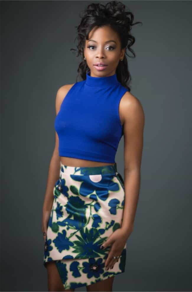 Bresha Webb in her blue floral... is listed (or ranked) 2 on the list The Most Stunning Bresha Webb Pics