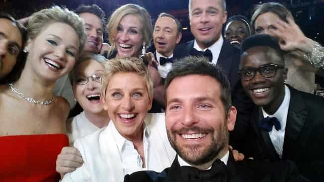 The Selfie Seen Around t... is listed (or ranked) 8 on the list The Most Memorable Oscar Moments of All Time