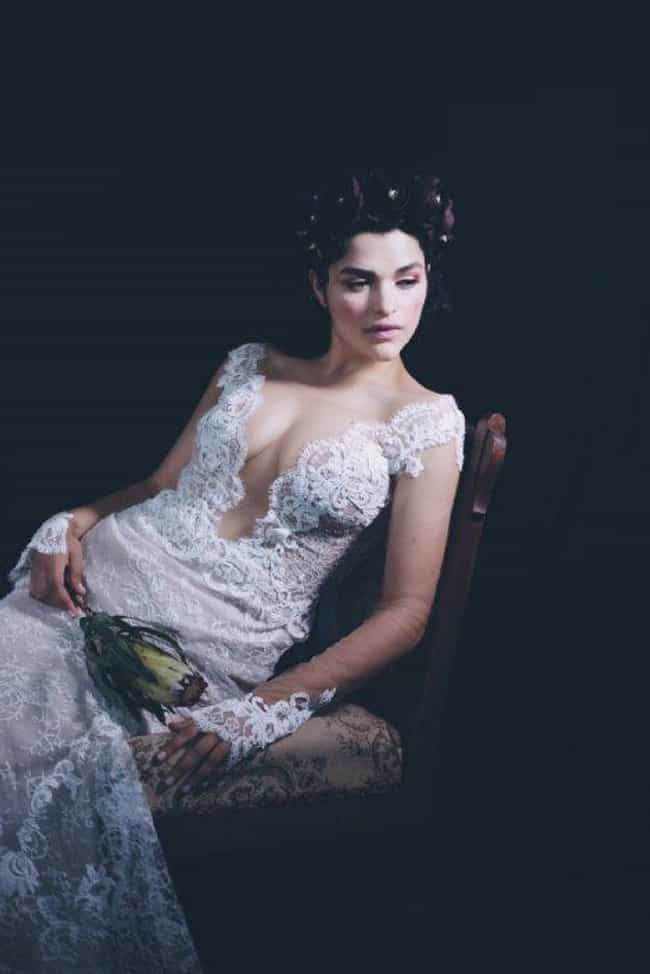 Eve harlow in a Lace white wed... is listed (or ranked) 1 on the list The Most Stunning Eve Harlow Pics Ever, Ranked
